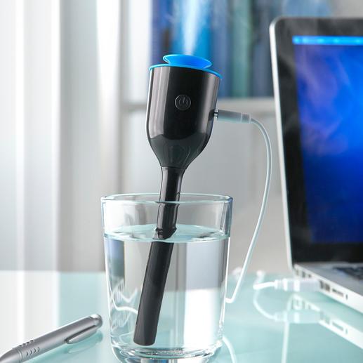 Reise-Luftbefeuchter - Kaum größer als ein Kugelschreiber. Der ideale Luftbefeuchter für Reisen. Und für Schreibtisch, Nachttisch, Kinderzimmer.