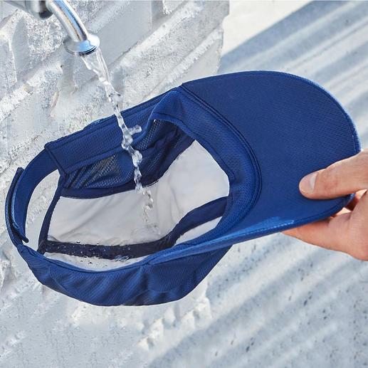 Cool Cap Natürliche Verdunstung sorgt für einen kühlen Kopf. Mit XL-Wasserreservoir: Bis zu 5 °C unter Außentemperatur.