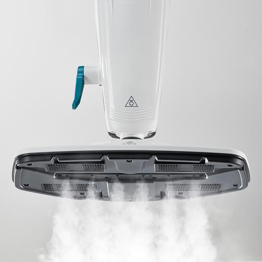 6Düsen (statt oft nur 2) verteilen den Dampf besonders gleichmäßig.