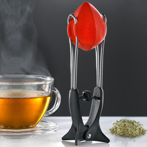 Silikon-Tee-Ei - Optimale Geschmacksentfaltung. Und tropffreies Abstellen. Das flexible Silikon-Tee-Ei.