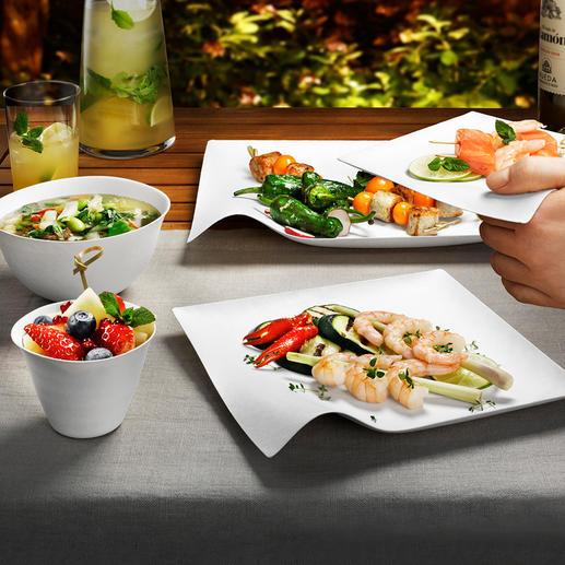 Design-Oneway-Geschirr, 8er-Sets Exquisites japanisches Design. Perfekt für Ästheten.