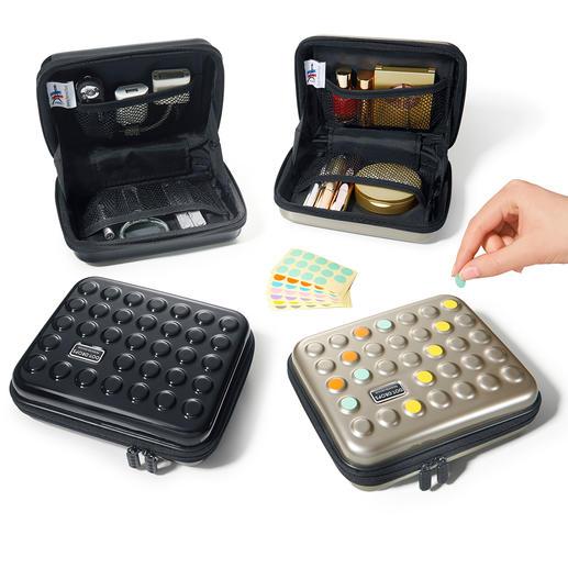 Dot-Drops® Ultraleicht-Case - Stylisher Schutz für Kosmetika, Medikamente, Ladegeräte, ... Im angesagten Dot-Drops® Design.