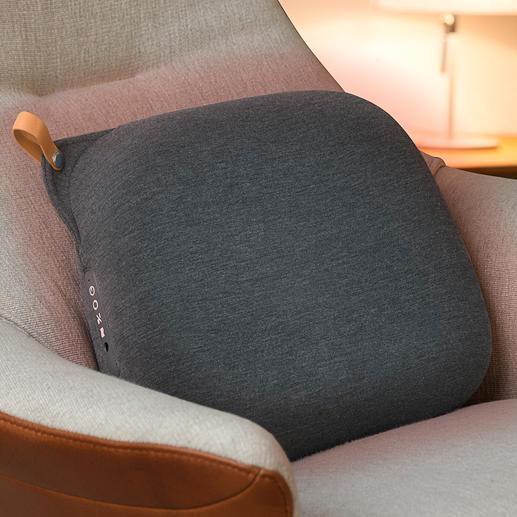 Relax Back Design-Massagekissen - Das Hightech-Massagekissen in skandinavischem Design. Mit 8 rotierenden Massageköpfen und Infrarot-Wärme.