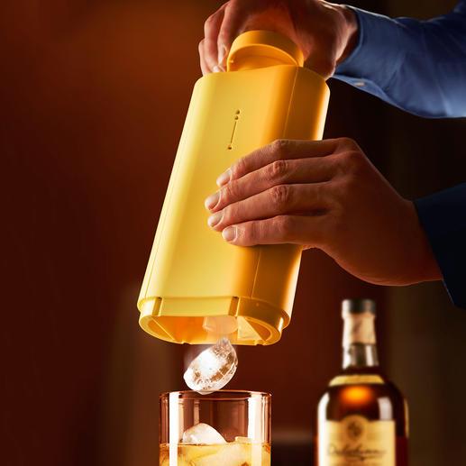 Icebreaker - Stylisher Eiswürfelbereiter und -spender zugleich. Bereitet 12 Eiswürfel und serviert sie einzeln direkt ins Glas. Einfach per Dreh.