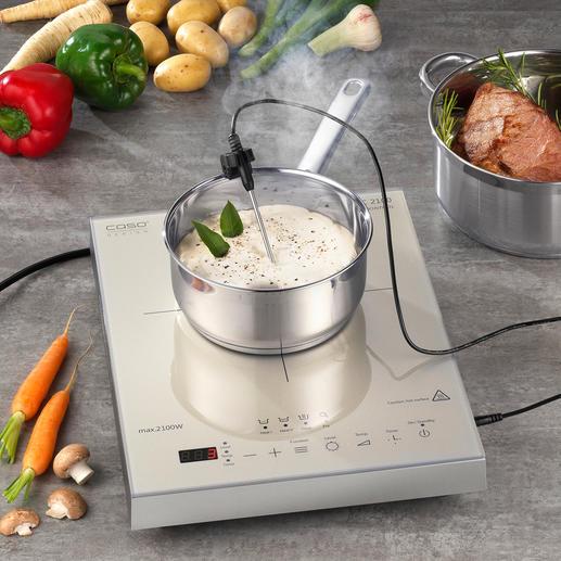 Caso Induktions-Kochfeld Thermo-Control Induktionskochfeld 2.0: gart, kocht und brät Ihre Speisen aufs Grad genau.