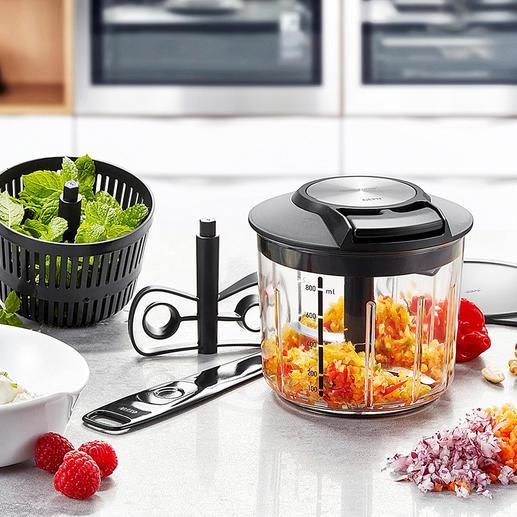 GEFU® Multi-Zerkleinerer - In Sekunden: Gemüse schneiden, rühren, schlagen, mixen. Ohne Aufwand. Und ohne Strom.