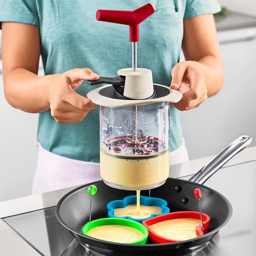 Teig-Blitz - Teigzutaten abmessen, mischen und exakt portionieren – genial einfach, sauber und schnell.
