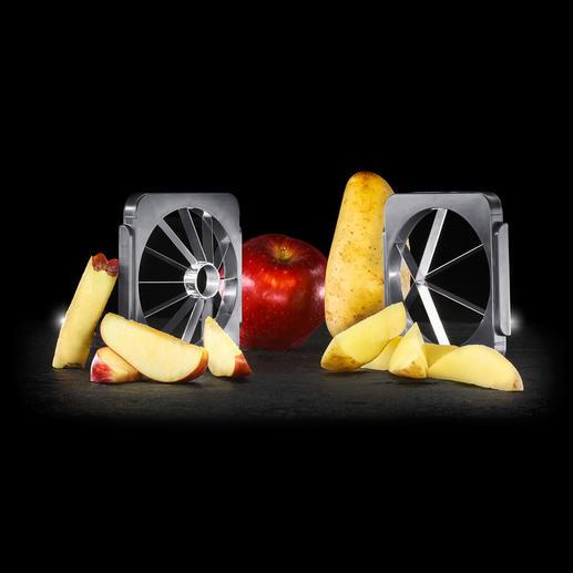 Separat erhältlich: Klingen-Set für Apfelspalten und Kartoffel-Wedges.