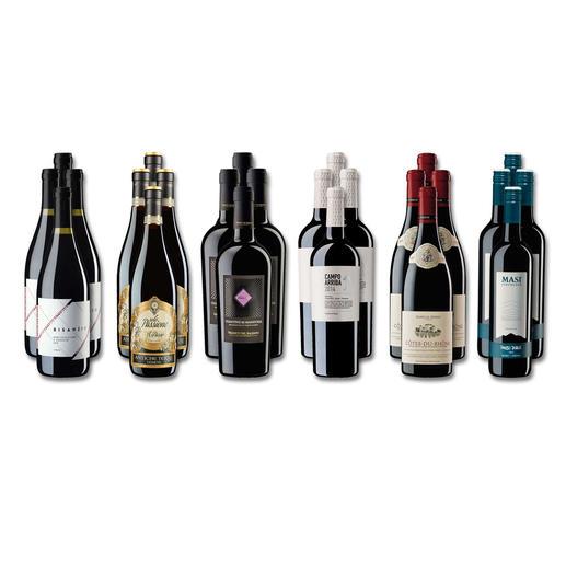 """Weinsammlung """"Die kleine Rotwein-Sammlung Sommer 2018"""", 24 Flaschen Wenn Sie einen kleinen, gut gewählten Weinvorrat anlegen möchten, ist dies jetzt besonders leicht."""