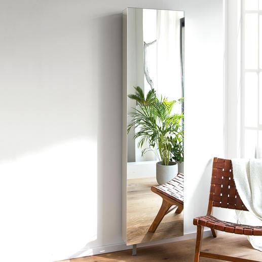 Spiegel-Drehschrank - Der ideale Spiegelschrank: Platzsparend. 180° drehbar. Mit viel verborgenem Stauraum.