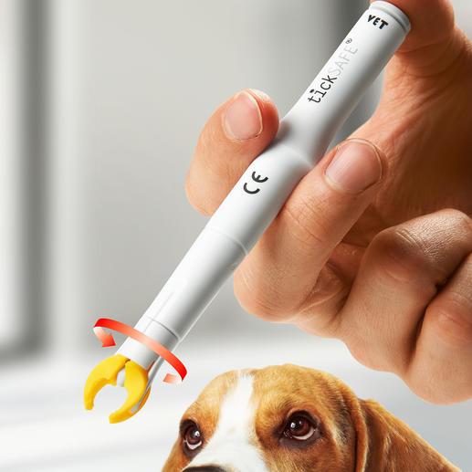 tickSAFE® Zeckengreifer - Sanft, sicher, schmerzfrei. Der patentierte Zeckenentferner: greift, dreht und zieht – in einem Schritt.