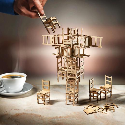 Stacking Chair Game - Entdecken Sie Ihr Talent als Baumeister oder Konstrukteur kühner Skulpturen. Lust zu Experimentieren?