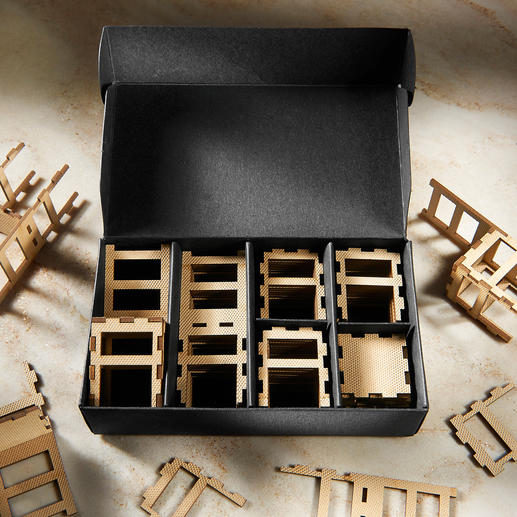 In knapp 15 Minuten zusammengesteckt – einfach aus je 5 Steckelementen, die sorgfältig sortiert bereitliegen.