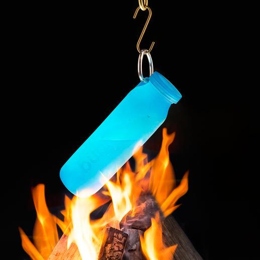 Perfekt auch zum Erhitzen von Flüssigkeiten über dem Lagerfeuer.