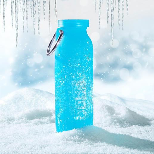 Extreme Kälte (bis -73°C) widersteht die bübi® bottle schadlos.