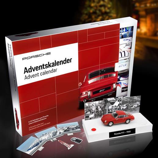 Adventskalender Bausatz Porsche 911 - Bringt Sie in 24 Schritten Ihrem Traumauto nahe. Als Modell im Maßstab 1:43. Offiziell lizenziert.