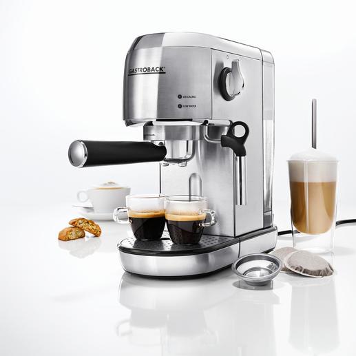 Gastroback Espresso-Maschine Piccolo - Ultrakompakt. Kann alles. Sieht blendend aus. Und ist besonders leicht zu bedienen.