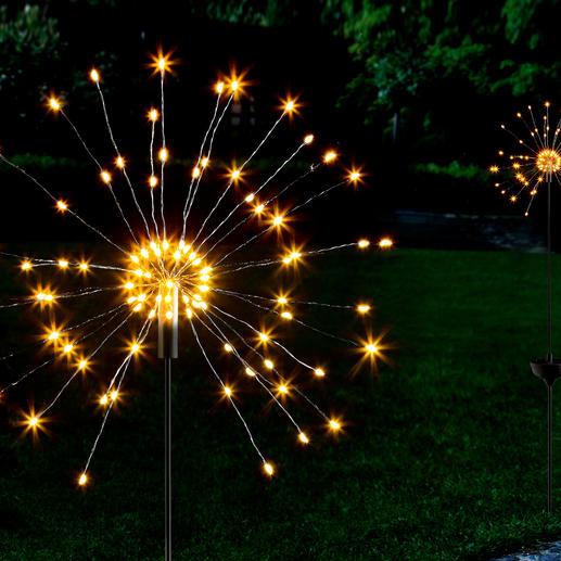 Solar-Wunderkerze Faszinierendes Spiel feinster Lichtpunkte – wie funkensprühende, riesige Wunderkerzen.