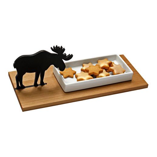 Hasen-Kresseschale oder Elch-Gebäckschale Fernab vom üblichen Oster-Kitsch: Die charmante Kresseschale mit Hasen-Silhouette.