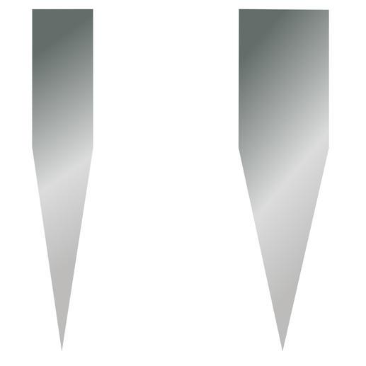 Besonders spitzer Schleifwinkel von 16° (statt oftmals 22– 25°) für weniger Schneidwiderstand.
