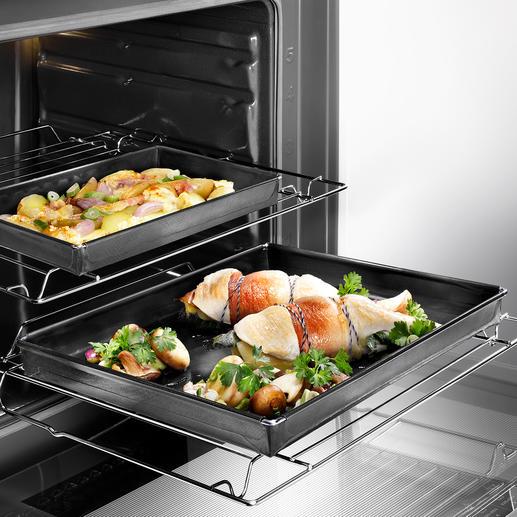 Ofen-Schale Perfekt für den Ofen: Die teflonbeschichtete Fiberglas-Garschale.