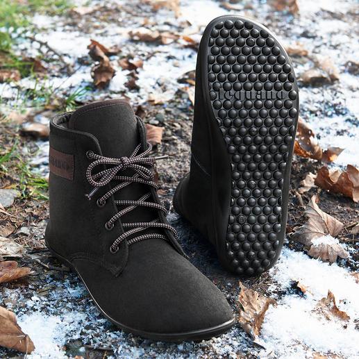 Barfuß-leguano® Schnür-Boots Gesund und entspannend wie Barfußlaufen – jetzt winterwarm und city-chic.