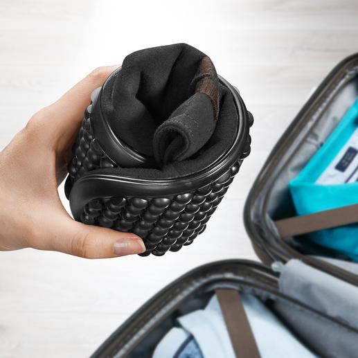 Extrem flexibel – platzsparend auch im (Reise-)Gepäck zu verstauen.