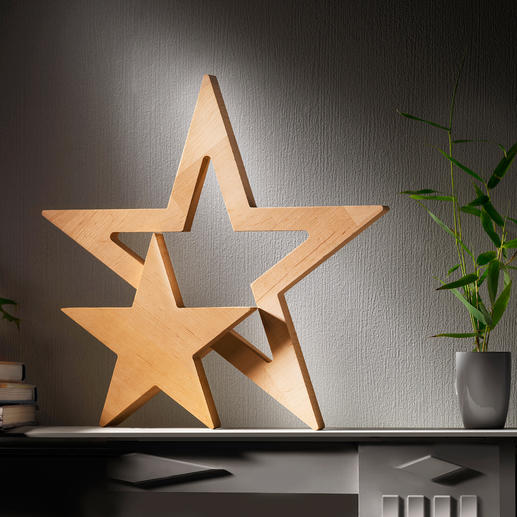 Stern-Duett Klare Form. Puristisches Design. Natürlich schönes Buchenholz.