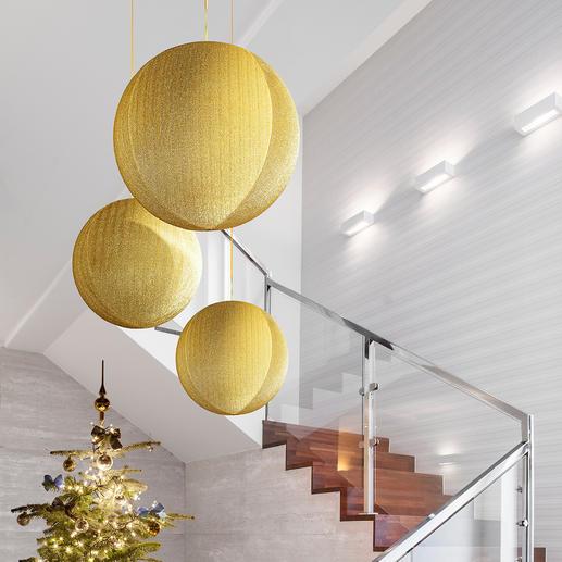 Riesen-Weihnachtskugel Gigantische Glitzerkugeln: faszinierend als Einzelstück – eindrucksvoll als Gruppe.