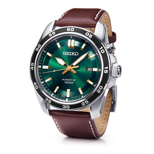 Seiko Kinetic Herrenuhr - Die Seiko Kinetic mit 6 Monaten Gangreserve. Läuft bis zu 100-mal länger als herkömmliche Automatik-Uhren.