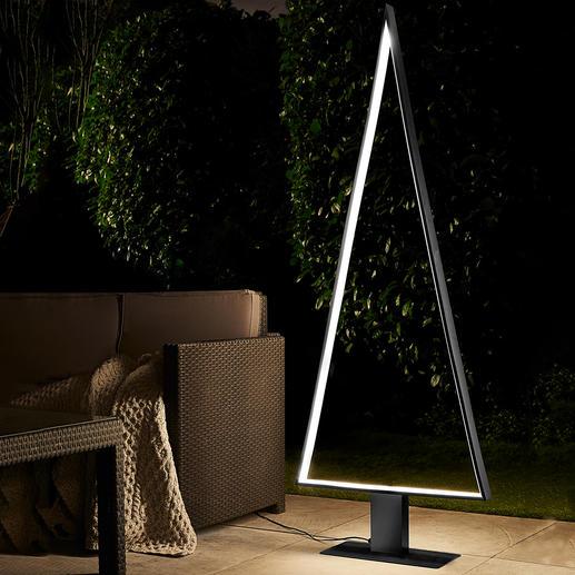 LED-Outdoor-Lichtbaum - Schönstes, puristisches Design: perfekt als Outdoor-Tanne und edles Lichtobjekt.
