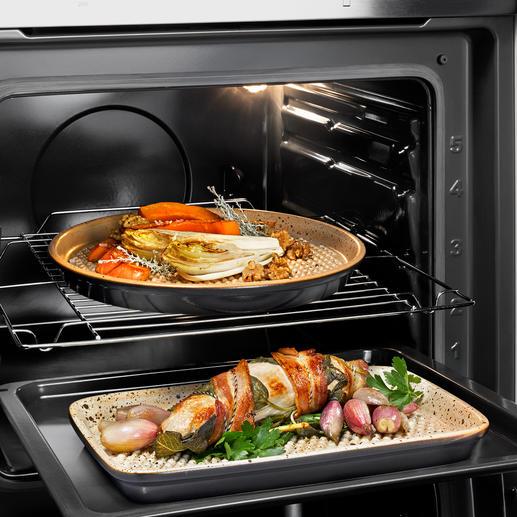 RÖMERTOPF® Lafer-BBQ-Grillplatte Weltneuheit: Grillen auf original RÖMERTOPF®-Keramik (statt Alu).