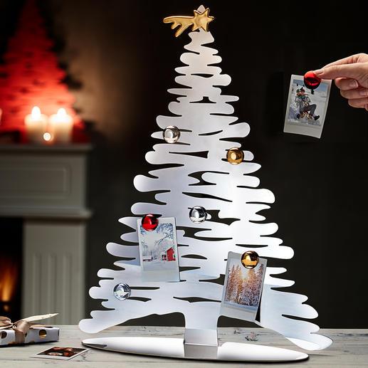 Designer-Weihnachtsbaum Alessis stylisher Weihnachtsbaum: Designobjekt und Pinwand in einem.