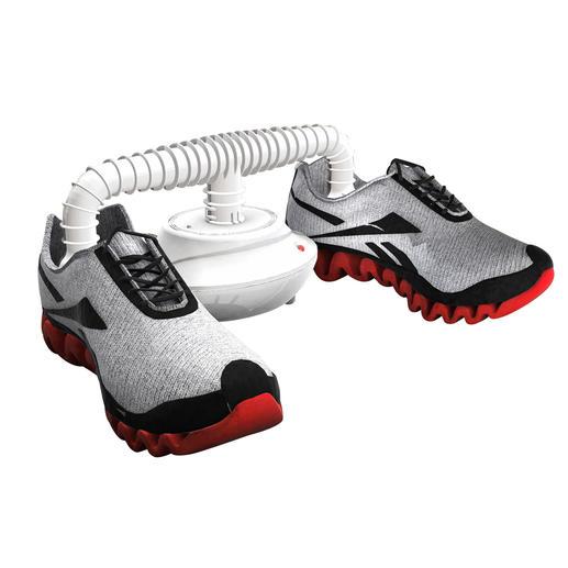 Der mitgelieferte Schuhtrockneraufsatz trocknet Ihre Schuhe und Handschuhe in weniger als 60Minuten.