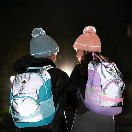 Twinkle Kid® Reflektor-Rucksack - Der Kinder-Rucksack mit versteckt eingewebter Reflektor-Faser für taghellen Leuchteffekt.
