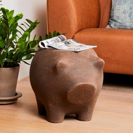 Beistellschwein - Ablage und Skulptur in einem: das Beistellschwein zum Schmunzeln und Staunen.