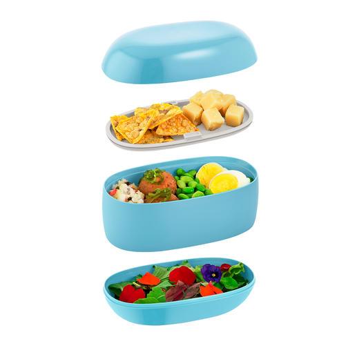 3separate Abteile halten Ihre Speisen sauber getrennt.