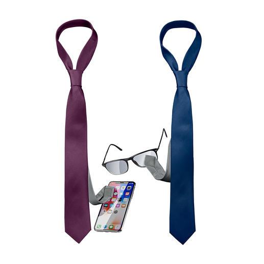 Clean Your Screen Krawatte Die Krawatte mit eingearbeitetem Polyester-Tuch reinigt Ihr Smartphone und Ihre Brille.