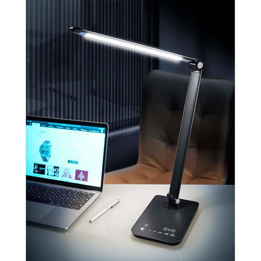 Dynamische LED-Leuchte 5 wählbare Lichtmodi zum Arbeiten, Lesen, Relaxen. Auch kabellos zu nutzen.