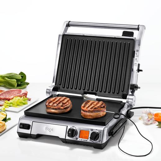 Smart Grill™ Pro - Misst konstant die Kerntemperatur. Passt Grillzeit und –temperatur selbsttätig an. Und meldet die optimale Ruhezeit.