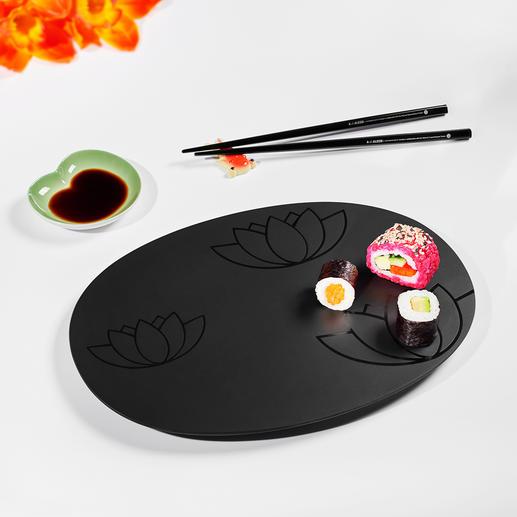 Sushi-Set, 4-teilig Entwickelt mit dem National Palace Museum in Taiwan. Komplett mit Tablett, Saucenschale, Stäbchen und Ablage.