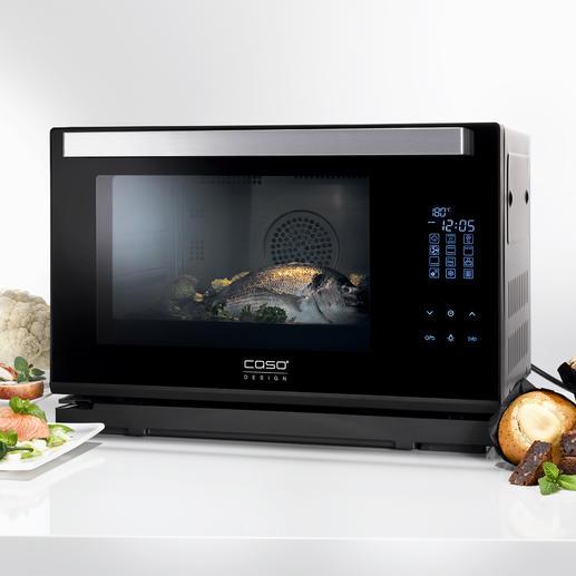 Caso Dampfbackofen Steam Chef - Heißluft-Backofen, Dampfgarer und Grill in einem kompakten Gerät. Von Caso.
