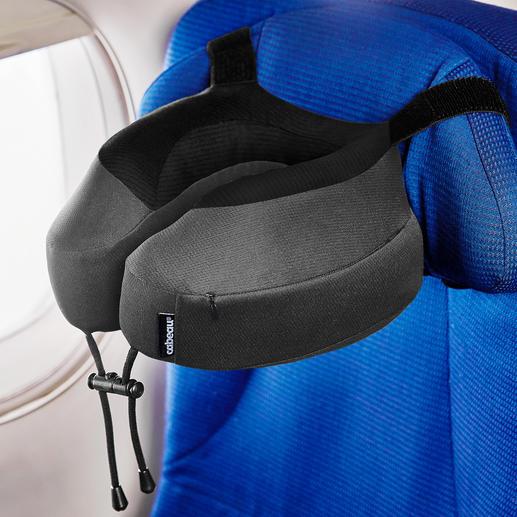 Nackenkissen Evolution® S3™ - Jetzt noch komfortabler: Per genialem Gurtsystem rutschsicher an fast jeder Kopfstütze zu befestigen.