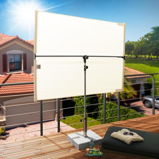 doppler® Sonnen- und Sichtblende - Genial flexibel: der perfekte Sonnen- und Sichtschutz für Terrasse, Loggia und Balkon.