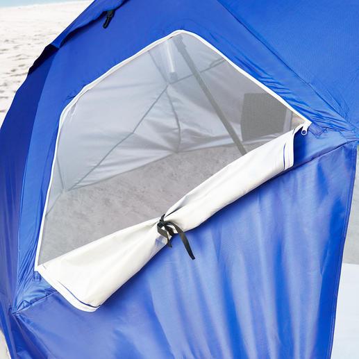 Gegen Hitzestau sind an der Rückwand 2Fenster eingesetzt – einfach per Zipper zu öffnen.