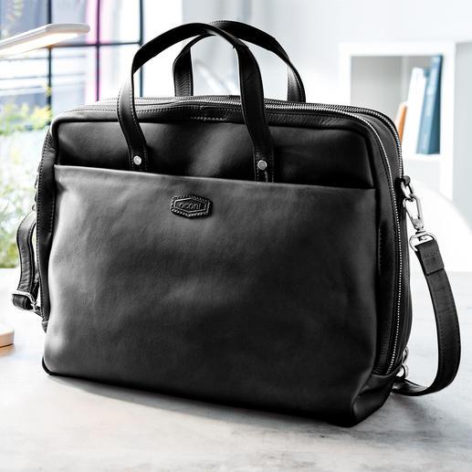 Oconi Multiway-Businesstasche Edle Laptop-Tasche. Lässige Schulter-Bag. Und im Nu ein praktischer Rucksack.