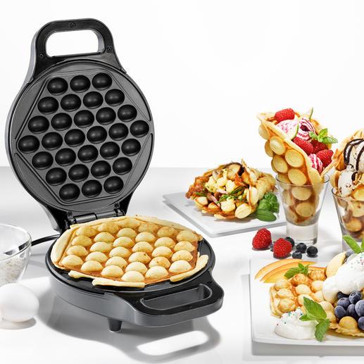 Eierwaffel-Bäcker - Bubble Waffles – der unwiderstehliche Food-Trend aus China. Ganz einfach hausgemacht.
