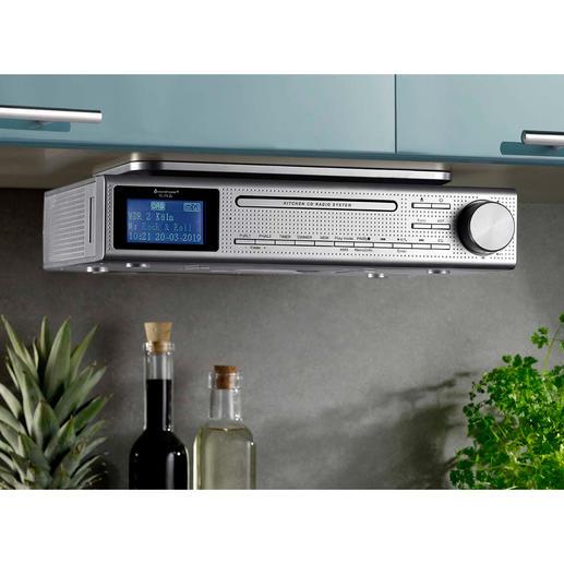 Küchen-Musikcenter Elite Line - Spielt FM- und Digitalradio, CD und MP3-Musik. Mit Bluetooth-Empfang, USB-Wiedergabe und Klinkenanschluss.
