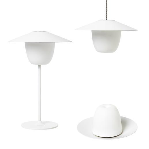 Ani Lamp Im Handumdrehen eine Tisch-, Steh- oder Hängeleuchte. Akkubetrieben. Für drinnen und draußen.