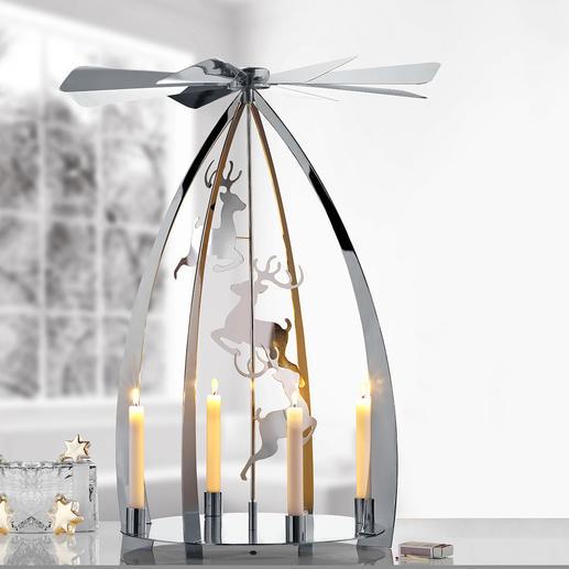 Moderne Weihnachtspyramide Der wohl schönste Weihnachtsklassiker – jetzt in modernem, hochglänzendem Design.